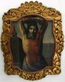 Bartholomew Apostle 18C Oil Painting Mexican Colonial School