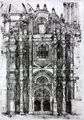Saltillo Coahuila Mexico Cathedral Door Lithograph 1997